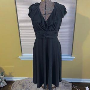 Evan-Picone Black sleeveless dress